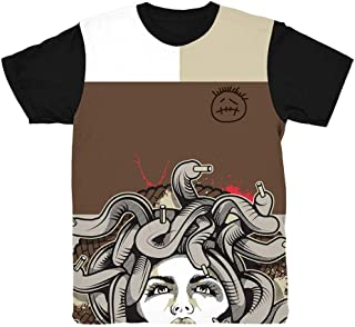 Cactus Jack 1 Medusa Bottom Shirt to Match Jordan 1 Cactus Jack Sneakers | Jordan Retro 1 Travis Scott Shirt