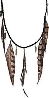 real feather necklace