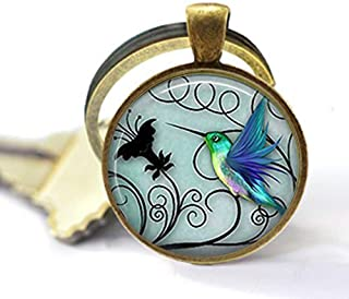 Doitsa Femme Ensemble de Boucles doreilles Collier Style R/étro Bijoux Pendentif Forme de Animal Oiseau Bleu