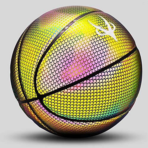 Check Out This DUTUI Luminous Basketball, Rainbow Basketball, Moon Glow Fluorescent Size 7 Cool Whit...