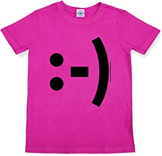Hank Player U.S.A. Happy Face Emoticon Girl's T-Shirt