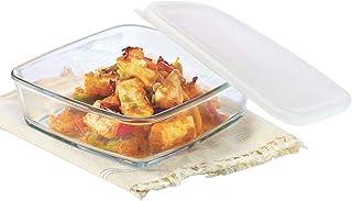 Borosil Square Dish with Lid Storage, 500ml