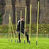 FORZA Slalomstangen – 1,8m sprunghafte Agilität Stangen – als 8er-Set oder 16er-Set erhältlich (1,8m, 8er-Set)