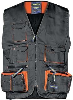 ba30e6e7013c Gilet multitasche Goodyear in poliestere e cotone colore nero taglia XL