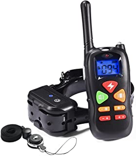 PetInn Dog Training Collar Waterproof and Rechargeable 450m Remote Dog Shock Collar with Beep Vibration and Shock Electronic Collar