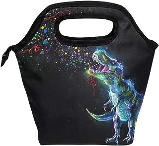 Naanle Glowing Dinosaur Insulated Zipper Lunch Bag Cooler Tote Bag for Adult Teens Kids Girls Boys Men Women, Animal Dinos...