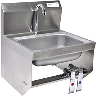 BK Resources BKHS-D-1410-1-BKK-PG Wall Mounted Stainless Steel Hand Sink with 3.5