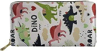 Woisttop, portafoglio da donna in pelle con portamonete e portamonete, Dino White (Bianco) - Woisttop