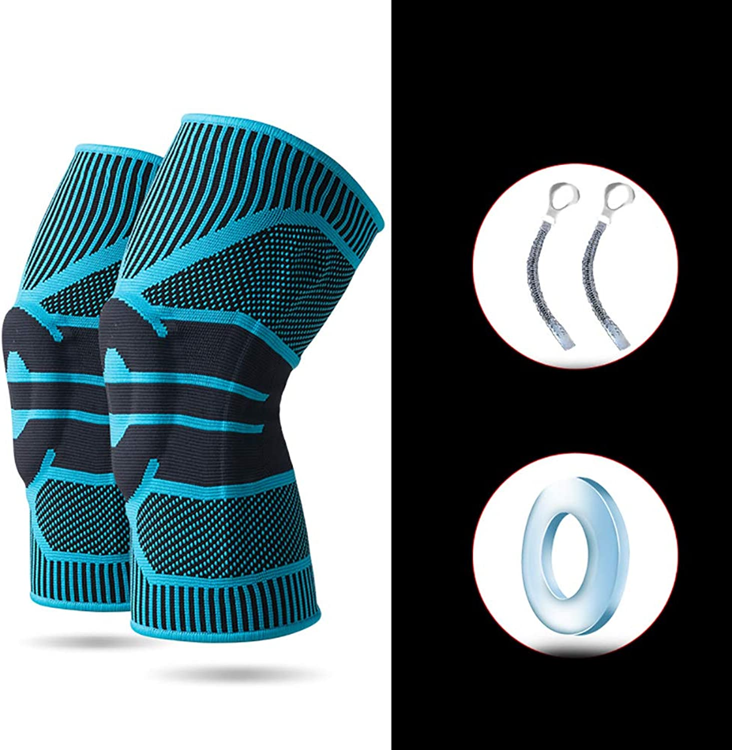 Knee Pad Outdoor Knee Predectors Sports Knee Pads Silicone Knee Pads Basketball Fitness Outdoor Sports Unisex 1 Pair