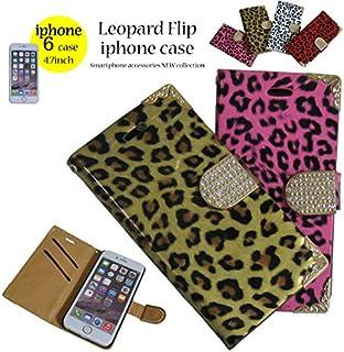 【iphone6☆4.7inch】[レオパード柄スマートフォンケース/ヒョウ柄スマホ手帳型ケース(イエロー)]フリップタイプのアイフォンケースで大切なスマホに傷が付きません!