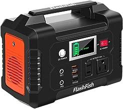 200W Portable Power Station, FlashFish 40800mAh Solar Generator with 110V AC Outlet/2 DC Ports/3 USB Ports, Backup Battery...