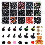 Safety Eyes and Noses, 792PCS Colorful Safety Eyes for Amigurumi with Washers...