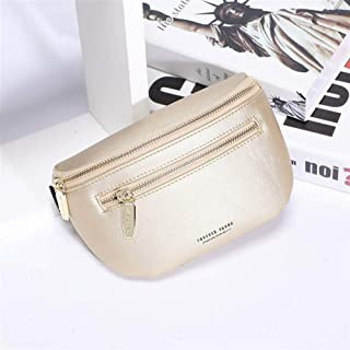 YWSCXMY-AU Luxury Multi-functiona Women's Fanny Pack Shoulder Bag and Chest Bag Female Belt Waist Pack (Color : Gold)