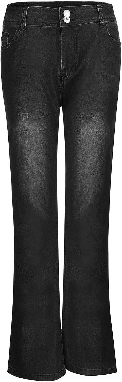 melupa Flare Jeans for Women Retro Wide Leg Jean Pants Skinny High Waist Bell Bottom Denim Pants