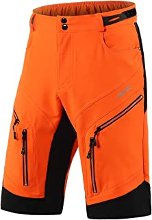 ARSUXEO Cycling Shorts Men's MTB Shorts Baggy Cycle Shorts Water Resistant with Zipper Pockets