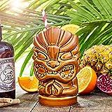 Tiki Hände Tasse 27.5oz/780 ml – Neuheit Keramik Hawaiian Motto Party Cup für Cocktails und...