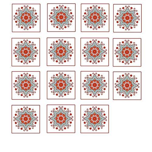 Bomoka Azulejos Pegatinas, 15pcs Pegatinas diagonales para baldosas de cerámica y baldosas, Pegatinas Decorativas para gabinetes de Escritorio, Azulejos Impermeables y desgastantes para baños