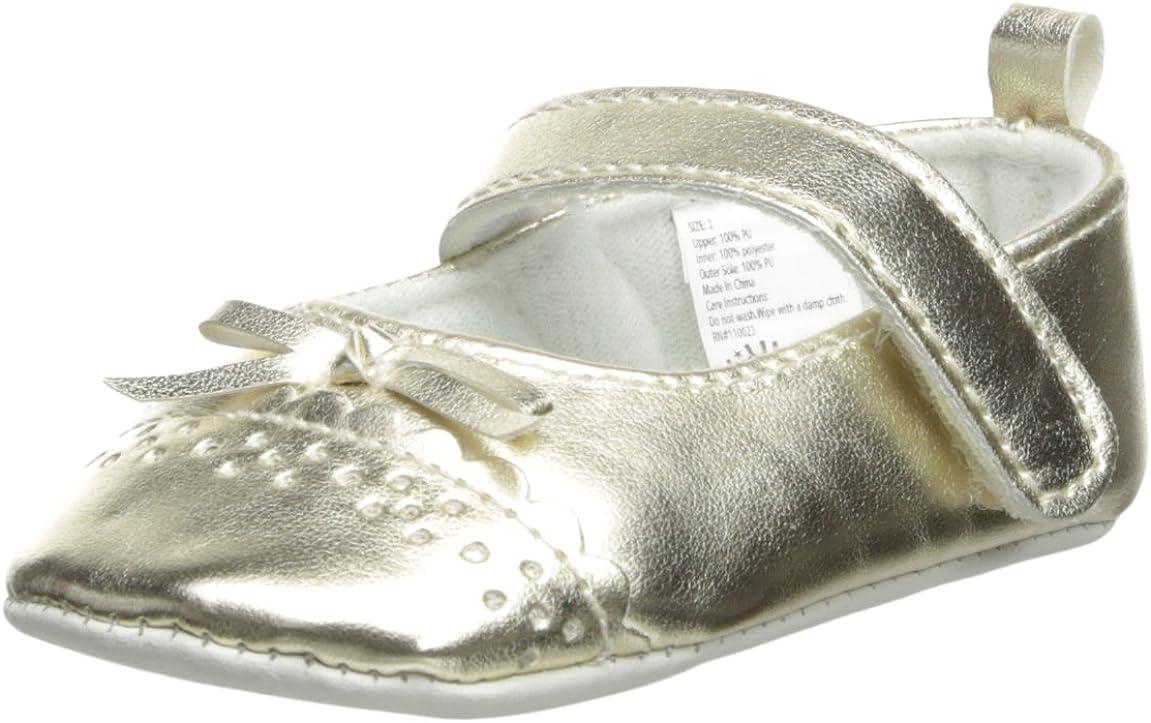 Little Me Baby-Girls Newborn Metallic Gold Mary Jane