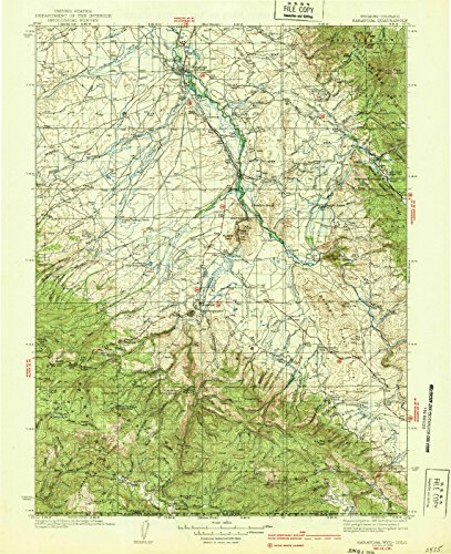 1939 Saratoga, WY - Wyoming - USGS Historical Topographic Map : 18in x 24in