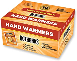 HotHands Hand Warmers - Long Lasting Safe Natural Odorless Air Activated Warmers - 54 Pairs (54 Pairs of Hand Warmers)