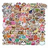 Sloth Stickers Pack 100 Animals Cute Vinyl Waterproof Decals for Water Bottles Laptop Sloth Gifts for Adults Girls