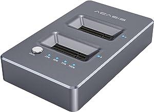 ACASIS M.2 NVMe Duplicator Cloner Docking Station Dual-Bay Offline Clone USB Type-C to NVME for M2 SSD M Key Hard Drives Enclosure [Support 8TB]