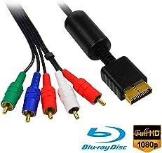 Eaxus®️ PS3 & PS2 HD Component Cable - Componentes AV TV YUV Cable 1.5 metros bañado en oro