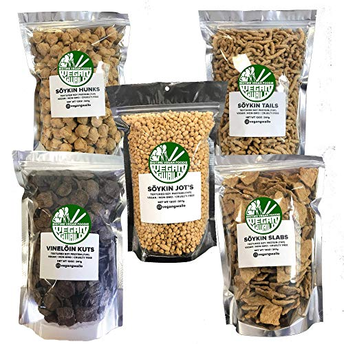 TVP FAMILY PACK   5 PACKAGES OF OUR BEST SELLERS   TEXTURED VEGETABLE PROTEIN   VEGAN   NON-GMO   CRUELTY FREE