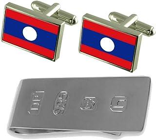 Laos Flag Cufflinks & James Bondお金クリップ