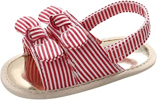 DolceTiger Sandales Bout Ouvert Fille Sandales Bout Ouvert Mixte Enfant Bébé Fille Bébé Plaid Imprimé Décalque Velcro Bamb...