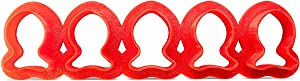 Fish Cookie Cutter Multi x5 Made Of Plastic – Red Fish Cutters For Cookies, Dough, Bread, Soft Fruits, Soft Veggies, And More – Cutters For Mini Fish-Shaped Goods