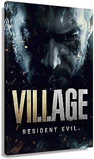 CXNIXIAK Resident Evil 8 Village Game Poster Arte para Quarto Impressões Arte de Parede para Escritório Pintura Retangular...