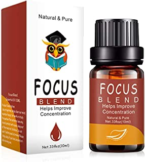 AUJELLY Focus essential oil 10ml with bergamot pine needle and mastic Pure Essential Oils Pre-Blended 100% Natural Ingredients