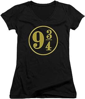 Harry Potter 9 3/4 Juniors' Sheer Fitted V-Neck T Shirt