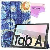 Billionn Hülle für Samsung Galaxy Tab A7 10.5 2020 (SM-T500 / T505 / T507), schlanke, dreifach gefaltete Hartschalenhülle mit automatischem Wake Sleep, Van Goghs Gemälde