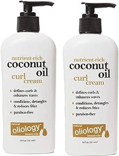 Oliology Coconut Oil Curl Cream, 7.8 Oz (2 Pack)