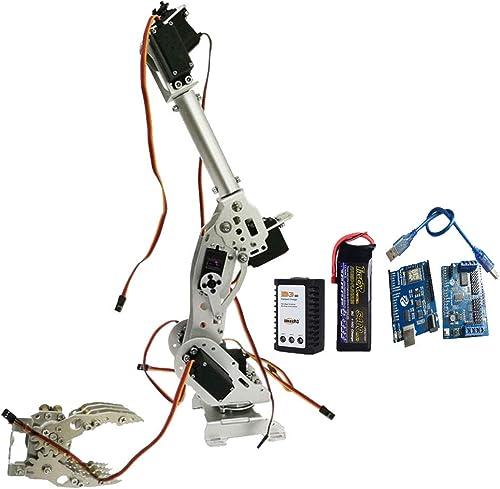 la calidad primero los consumidores primero SM SM SM SunniMix Kit Garra Brazo Robótico Dt-3316 Servomotor Arduino plata Control de WiFi 8dof Concepto Ergonómico Profesional  lo último
