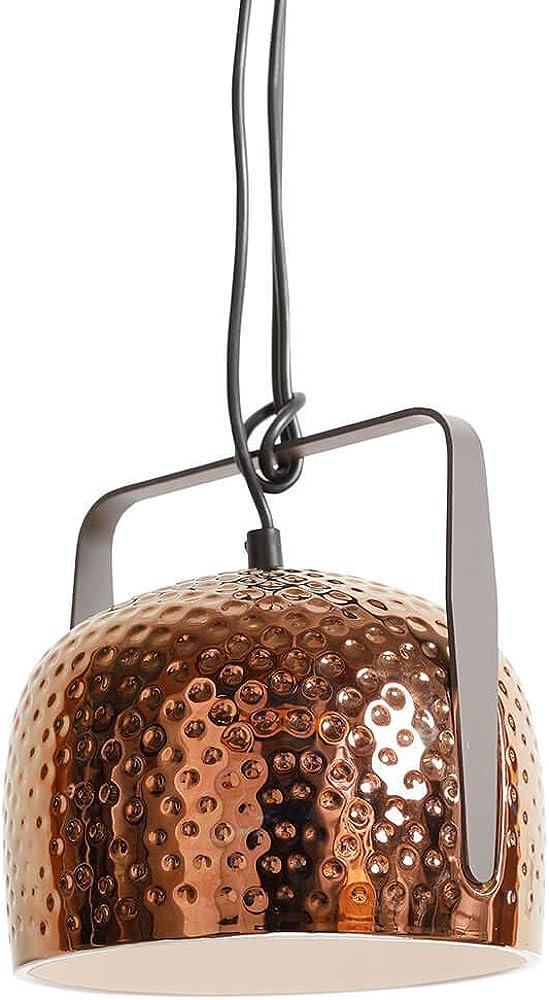 Karman bagm lampada a sospensione Ø32 cm,in ceramica con texture in  bronzo lucido SE154BR INT