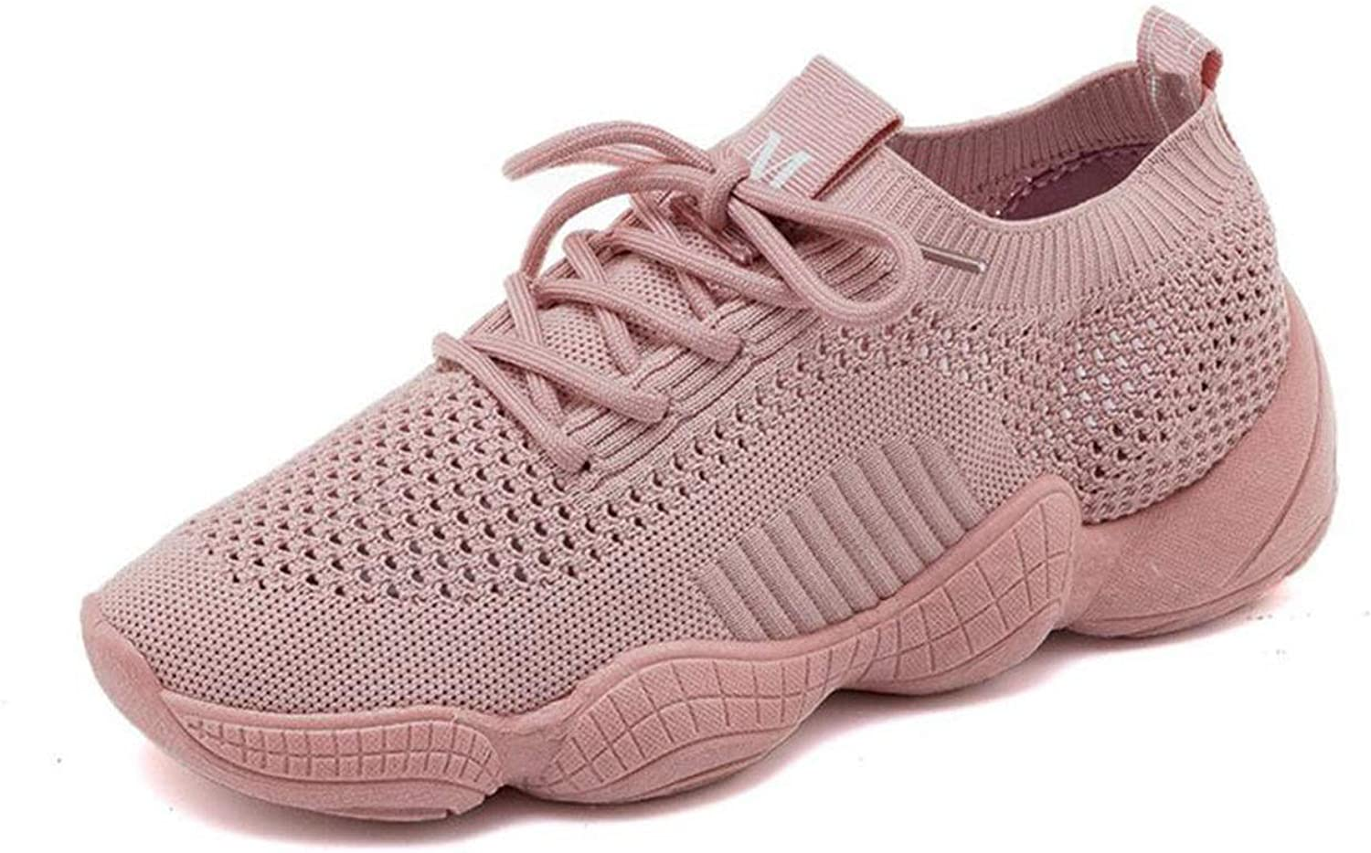 Women's Running shoes Walking shoes Lightweight Breathable Casual Sports shoes Fashion Sneakers Casual Knit Workout Sneakers (color   Pink, Size   35)