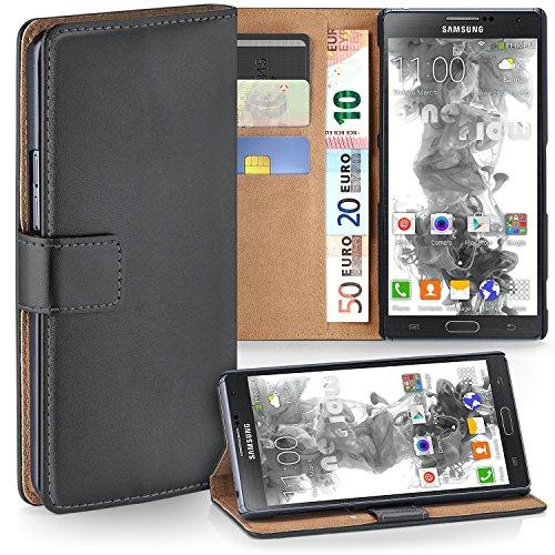 MoEx Premium Book-Hülle Handytasche passend für Samsung Galaxy Note 3 Neo   Handyhülle mit Kartenfach & Ständer - 360 Grad Schutz Handy Tasche, Dunkel-Grau