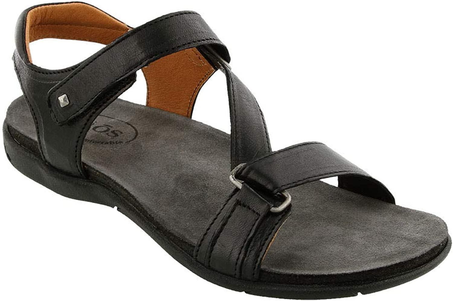 Taos Women's Zeal Black Leather Sandal 40 M EU   9-9.5 B(M) US