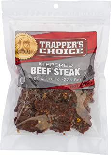Old Trapper | Trapper's Choice | Hot & Spicy Kippered Beef Steak | Traditional Style Real Wood Smoked Beef Steak| Made from 100% Beef | High Protein | Low Carb 8 Oz. (1 Bag)