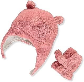 Baby Girls' Pilot Velboa Hat & Mitten Set
