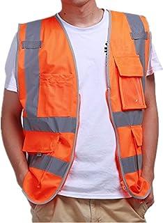Warnwesten orange Sicherheitsweste Reflektierende Warnschutzweste Signalweste XL