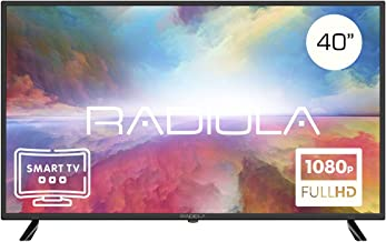 Televisor Led 40 Pulgadas Full HD Smart TV. Radiola LD40100KA, Resolución 1920 x 1080P, HDMI, VGA, WiFi, TDT2, USB Multimedia, Color Negro