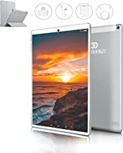 Tablet 10 Pulgadas 4G FHD 64GB de ROM 4GB de RAM Android 9.0 Certificado por Google GMS Tablet PC Procesador de Quad Core Batería 8500mAh Dual SIM 8MP Cámara WiFi,Bluetooth,GPS,OTG(Plata)