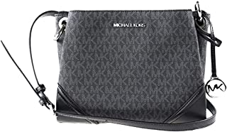 حقيبة مايكل كورس نيكول ثلاثية المقصورة كروسبودي سوداء PVC