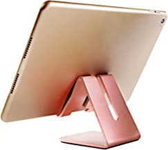 iBarbe Tablet Stand Desktop Holder Dock for iPad Mini Air 2 3 4 Pro, iPhone 6 7 8 X Plus, Nintendo Switch Accessories, Samsung, Other Tablet (4-12 inch),e-Readers More- osegold
