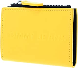 Tommy Jeans Bold Card Case Wallet Coin Pocket, Yellow, AW0AW07878