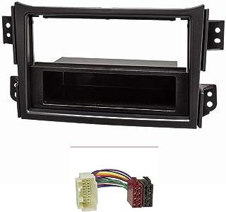 tomzz Audio 2439 104 Radioblende Set Kompatibel mit Opel Agila B Suzuki Splash schwarz mit Radioadapter ISO